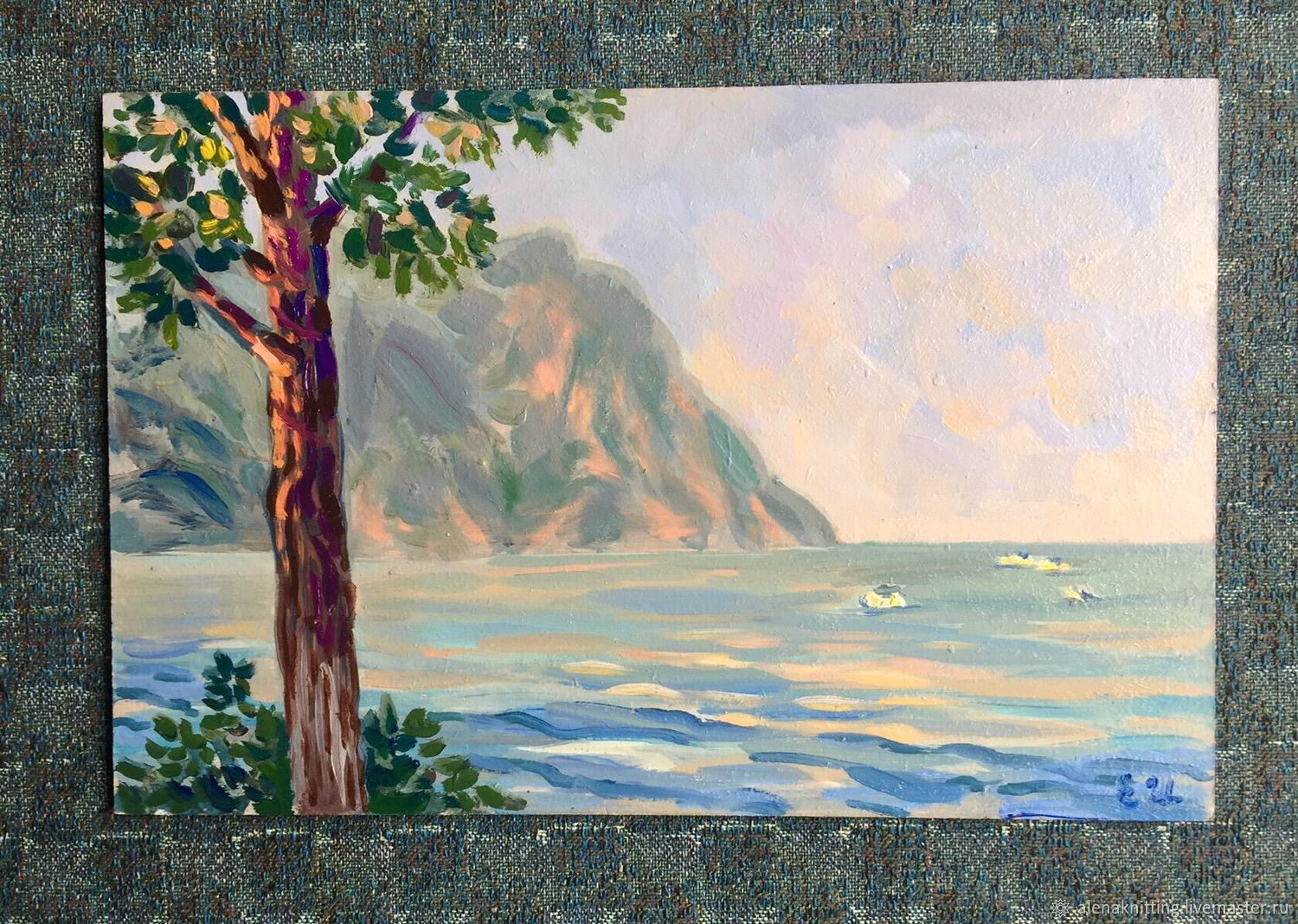 Oil sketch ' Balaklava. Crimea', Pictures, Moscow,  Фото №1