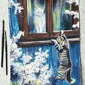 Картины и панно ручной работы. Ярмарка Мастеров - ручная работа Свидание. Handmade.