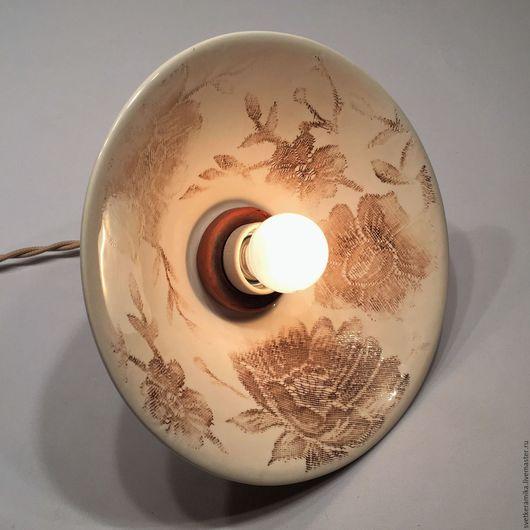 Освещение ручной работы. Ярмарка Мастеров - ручная работа. Купить Светильник из фарфора «Кружева». Handmade. Керамический плафон, изделия из керамики