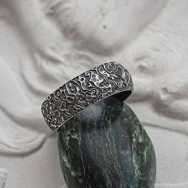 Decorations handmade. Livemaster - original item Finished men`s silver ring
