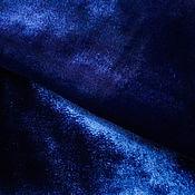 Материалы для творчества handmade. Livemaster - original item Velvet fine silk viscose dark blue. Handmade.