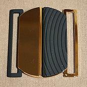 Фурнитура для шитья ручной работы. Ярмарка Мастеров - ручная работа Пряжка для пояса на резинке 6см широкая. Handmade.