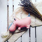 Куклы и игрушки ручной работы. Ярмарка Мастеров - ручная работа Бегемот розовый. Handmade.