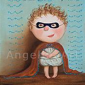Картины ручной работы. Ярмарка Мастеров - ручная работа Подарок картина Я твой прекрасный незнакомец.. Handmade.