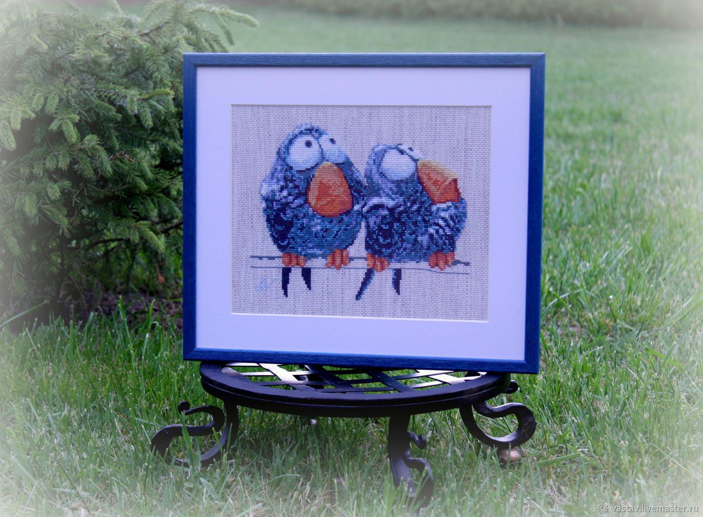 Cross stitch 'Merry Chicks', Pictures, Vilnius,  Фото №1