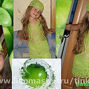 Работы для детей, ручной работы. Ярмарка Мастеров - ручная работа зеленое яблочко. Handmade.