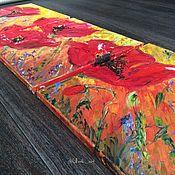 Картины и панно ручной работы. Ярмарка Мастеров - ручная работа Маки (триптих, размер одного холста 40/40). Handmade.
