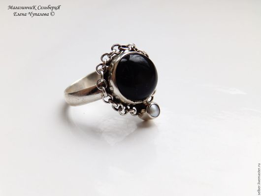 """Кольца ручной работы. Ярмарка Мастеров - ручная работа. Купить Кольцо """"Цепи Судьбы"""". Handmade. Чёрно-белый, необычное кольцо"""