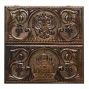 Активный отдых и развлечения handmade. Livemaster - original item Backgammon is carved.Art. 032