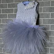 Работы для детей, handmade. Livemaster - original item Dress is made of tulle with a fluffy skirt for girls 4. Handmade.