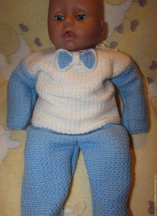 Одежда ручной работы. Ярмарка Мастеров - ручная работа. Купить Костюм-комплект для малыша 0-3 месяца. Handmade. Комбинированный
