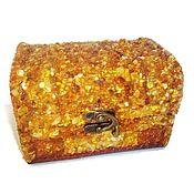 Для дома и интерьера handmade. Livemaster - original item Box for jewelry amber jewelry amber straight.. Handmade.
