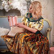 """Одежда handmade. Livemaster - original item Авторское платье """"Золотой кракелюр"""". Handmade."""