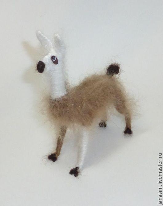 Игрушки животные, ручной работы. Ярмарка Мастеров - ручная работа. Купить Лама. Handmade. Комбинированный, пушистики