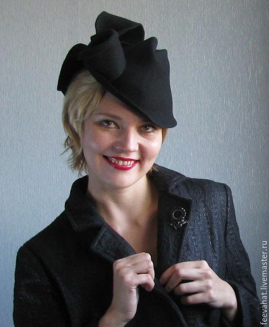 """Шляпы ручной работы. Ярмарка Мастеров - ручная работа. Купить Шляпа в винтажном стиле """"Бант"""". Handmade. Головной убор, велюр"""