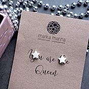 Украшения handmade. Livemaster - original item Earrings with stars in 925 silver. Handmade.