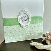 Свадебный салон ручной работы. Ярмарка Мастеров - ручная работа Свадебные приглашения сердечки. Handmade.
