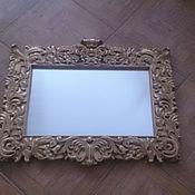 Зеркала ручной работы. Ярмарка Мастеров - ручная работа Зеркало в богатой резной раме.. Handmade.