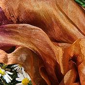 Аксессуары ручной работы. Ярмарка Мастеров - ручная работа Шелковый палантин Капучино  шелковый шарф, коричневый. Handmade.