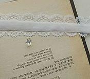 Украшения ручной работы. Ярмарка Мастеров - ручная работа Кружевной свадебный комплект украшений (чокер, браслет, кольцо). Handmade.