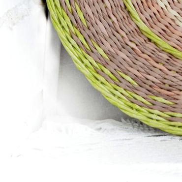 Посуда ручной работы. Ярмарка Мастеров - ручная работа Плетеная тарелка Первая зелень, плетеное блюдо. Handmade.
