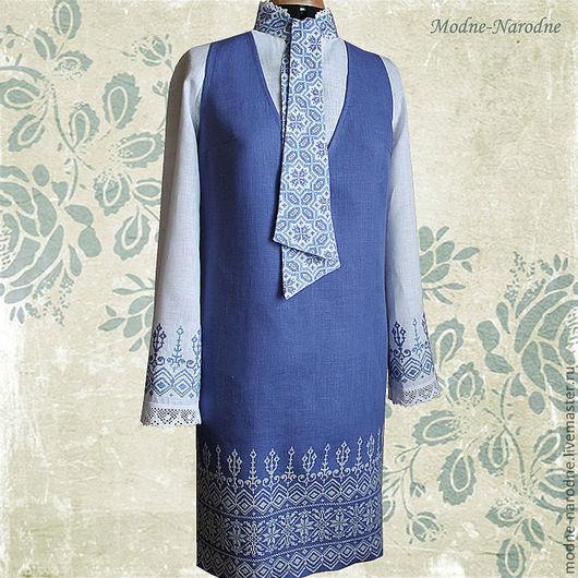 Костюм с ручной вышивкой Форте и Пиано 2.\r\nМодная одежда с ручной вышивкой. \r\nТворческое ателье Modne-Narodne.