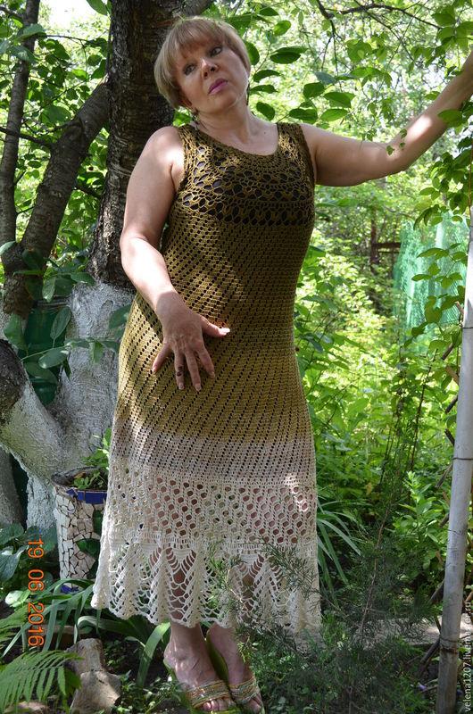 """Платья ручной работы. Ярмарка Мастеров - ручная работа. Купить Платье летнее """"Оливковый микс"""". Handmade. Оливковый, платье вечернее"""