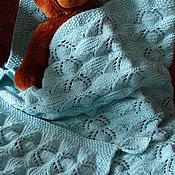 """Для дома и интерьера ручной работы. Ярмарка Мастеров - ручная работа Плед для новорожденного """"Колыбельная для Ромки"""" вязаный спицами. Handmade."""