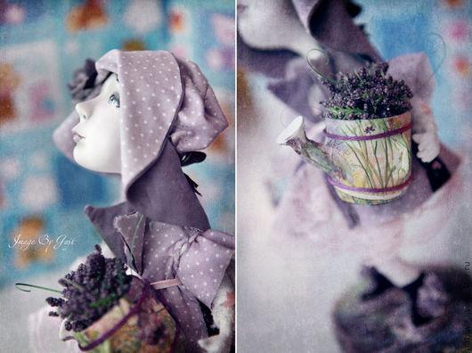 Коллекционные куклы ручной работы. Ярмарка Мастеров - ручная работа. Купить Лавандовые сны. Handmade. Сиреневый, ручная роспись