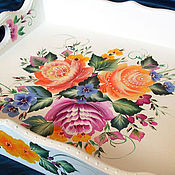 Для дома и интерьера handmade. Livemaster - original item Tray with painted