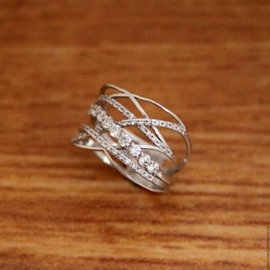 Кольца ручной работы. Ярмарка Мастеров - ручная работа. Купить Серебряное кольцо Роса, серебро 925. Handmade. Серебряный, кольцо