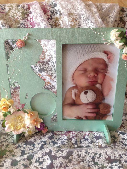 Подарки для новорожденных, ручной работы. Ярмарка Мастеров - ручная работа. Купить Рамка для фото УЗИ. Handmade. Фоторамка ручной работы