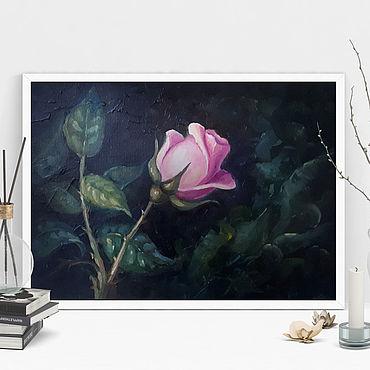 """Картины и панно. Ярмарка Мастеров - ручная работа Картина маслом """"Роза"""". Handmade."""