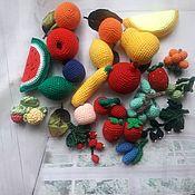 Кукольная еда ручной работы. Ярмарка Мастеров - ручная работа Вязаные фрукты - ягоды.. Handmade.