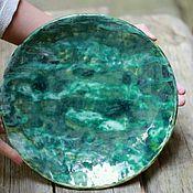 Посуда ручной работы. Ярмарка Мастеров - ручная работа Тарелка керамическая с ёлками. Handmade.