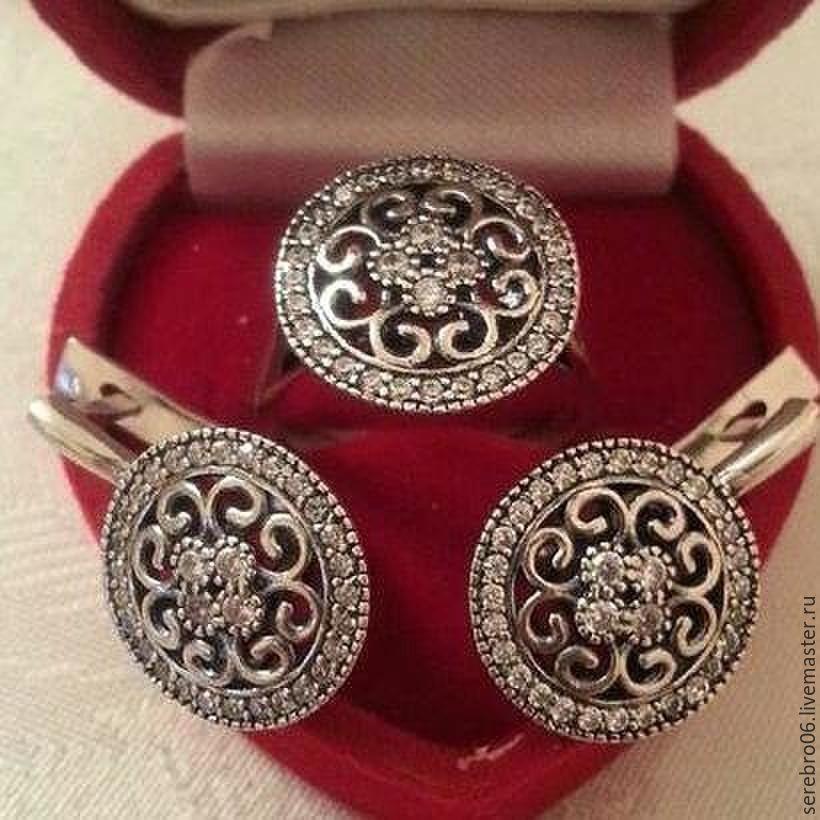 1d396cf14ff9 Купить серебряные серьги и кольцо · Комплекты украшений ручной работы. серебряные  серьги и кольцо . 925 проба. женские ювелирные украшения