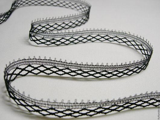 Кружево тонкое, легкое Сетка 1,4 см Подойдет для отделки одежды, создания украшений на шею, браслетов и других аксессуаров