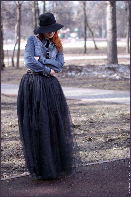 Двухслойная юбка из фатина