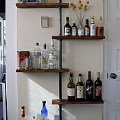 Для дома и интерьера handmade. Livemaster - original item Copy of Industrial style wall shelves made of wood and pipes.. Handmade.