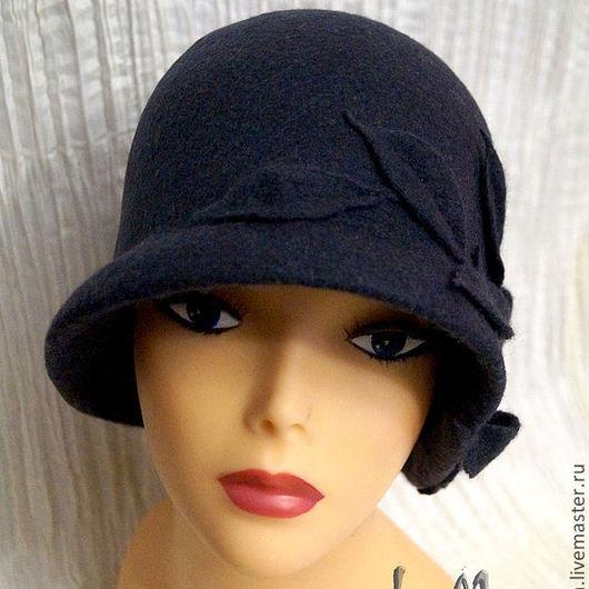 """Шляпы ручной работы. Ярмарка Мастеров - ручная работа. Купить Шляпка """"Stella-2"""". Handmade. Темно-серый, шляпка с цветами"""