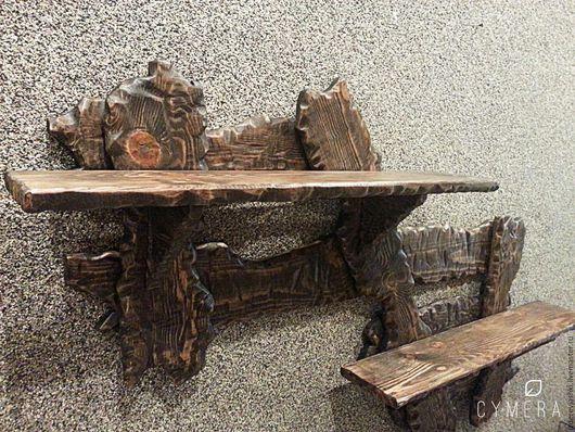 Мебель ручной работы. Ярмарка Мастеров - ручная работа. Купить Полка в стиле кантри. Handmade. Комбинированный, полка для книг, дерево
