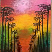 handmade. Livemaster - original item Painting with acrylic paints on canvas