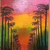 Картины ручной работы. Ярмарка Мастеров - ручная работа Картина акриловыми красками на холсте «L.A.». Handmade.