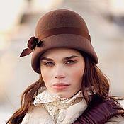 Аксессуары handmade. Livemaster - original item the Cloche hat. Color Nesquik. Handmade.