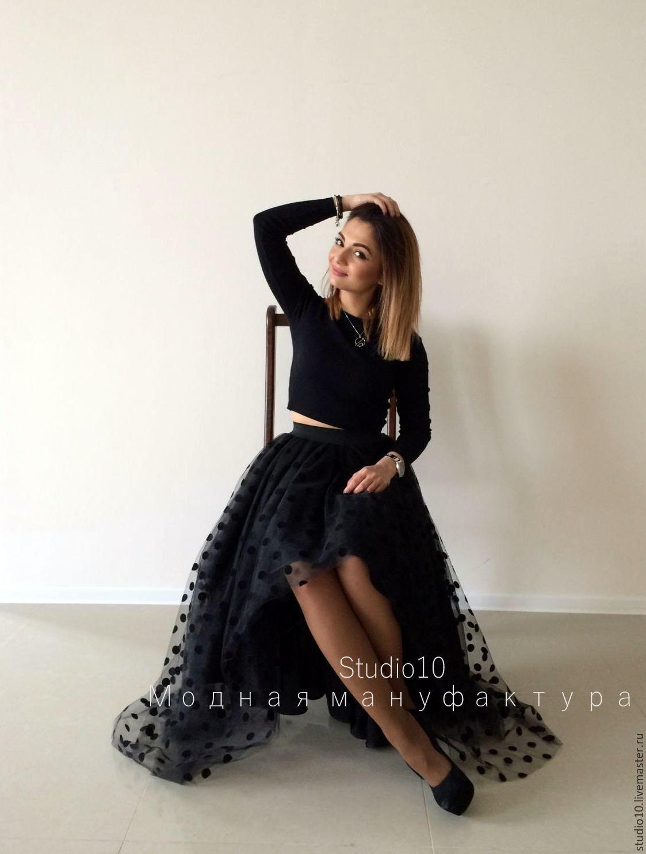 Платье фатин в горошек