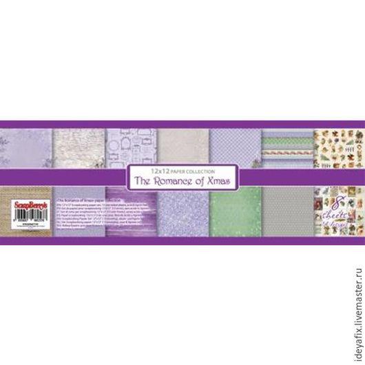 30,5х30,5 см. 8 листов бумаги с дизайнами коллекции (6 двусторонних и 2 односторонних листа с карточками).  190 гр/м