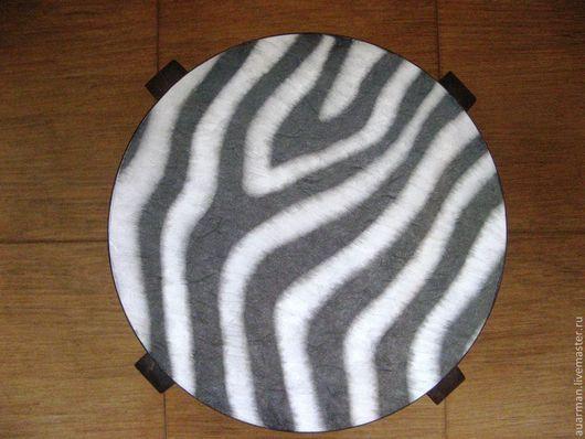 Мебель ручной работы. Ярмарка Мастеров - ручная работа. Купить Табурет деревянный декупаж Зебра. Handmade. Мебель из дерева, для кухни