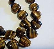 Материалы для творчества handmade. Livemaster - original item Tiger`s eye heart bead, high quality bead carved. Handmade.