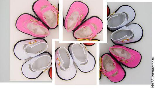 Куклы и игрушки ручной работы. Ярмарка Мастеров - ручная работа. Купить Обувь для кукол - лаковые туфельки 7,5 см розовые. Handmade.