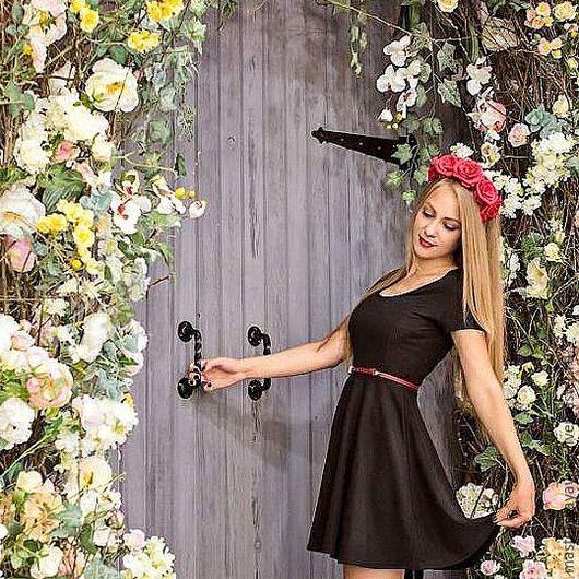 Диадемы, обручи ручной работы. Ярмарка Мастеров - ручная работа. Купить Красные розы. Handmade. Бордовый, ободок для волос
